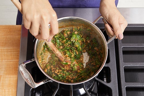 Cook the lentils & kale: