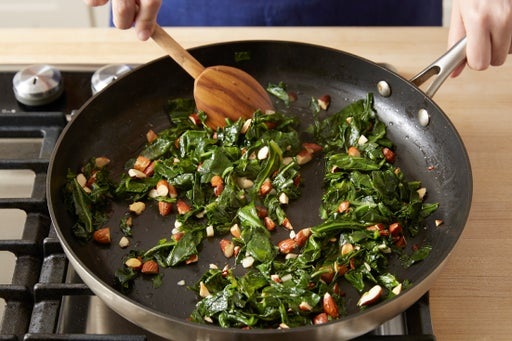 Finish the collard greens: