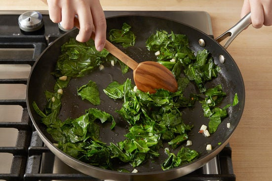 Start the collard greens: