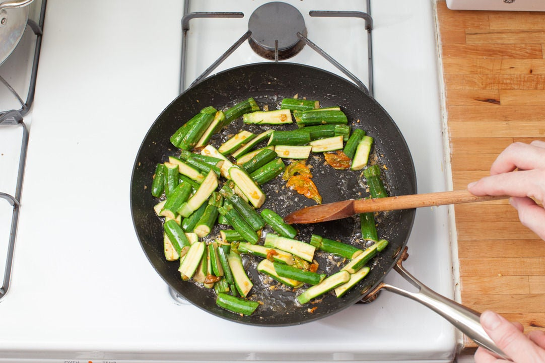 Add the zucchini: