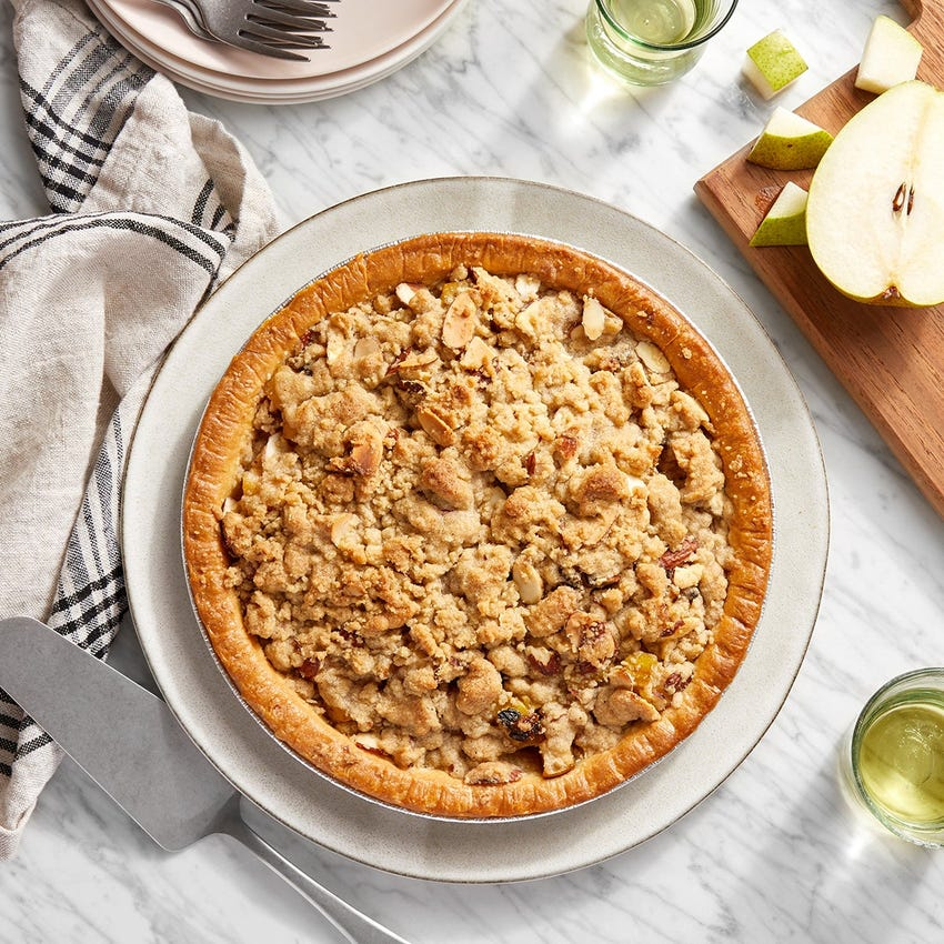 Pear Pie with Spiced Almond Crumble