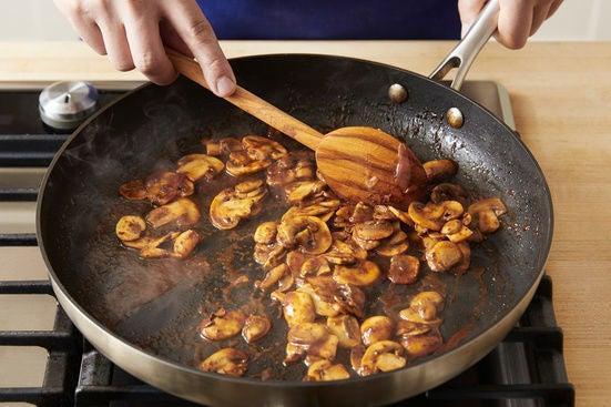 Cook the mushrooms: