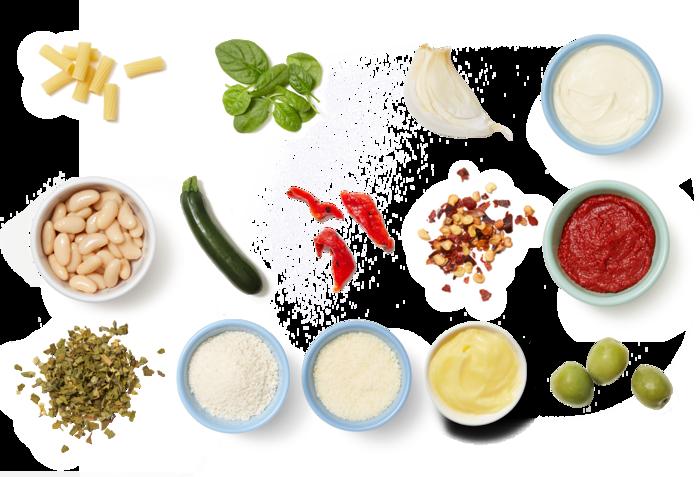 Spinach & White Bean Pasta with Parmesan & Oregano Breadcrumbs