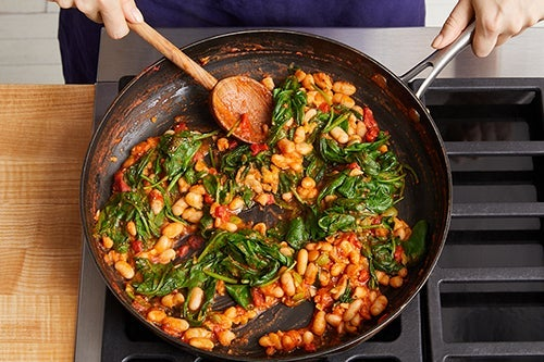 Cook the beans & make the sauce: