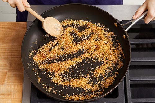 Toast & finish the breadcrumbs: