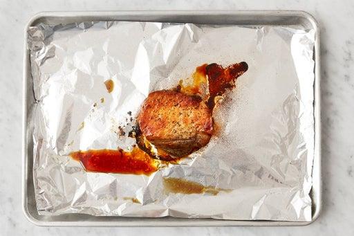 Glaze & roast the pork: