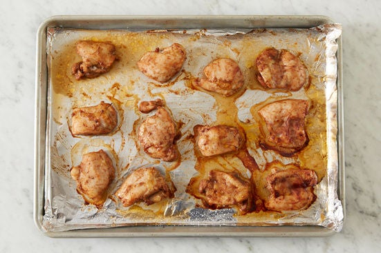 Coat & bake the chicken: