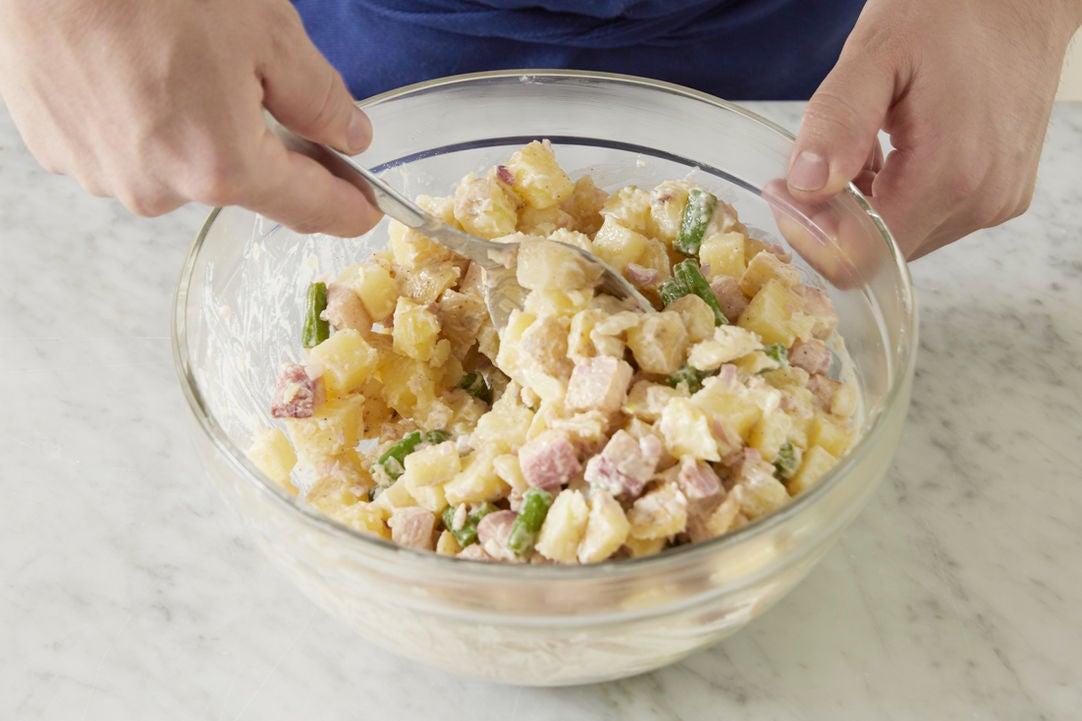 Finish the potato salad: