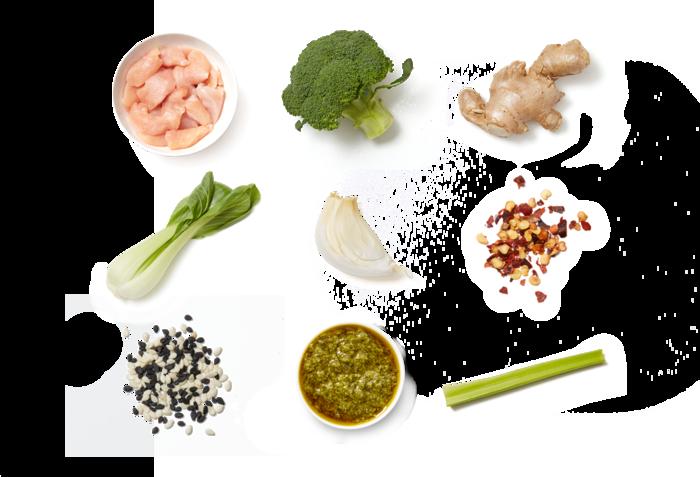 Cilantro Chicken Stir-Fry with Broccoli & Bok Choy