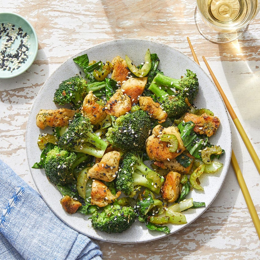 Cilantro Chicken Stir-Fry with Broccoli & Bok Choy