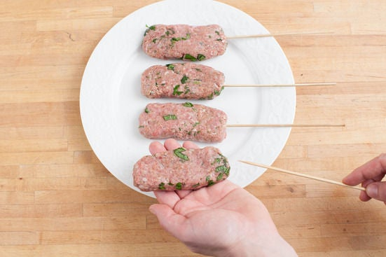 Make the kebabs: