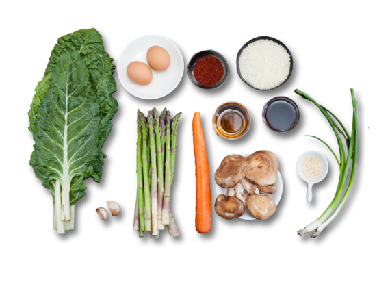 Vegetable Bibimbap  ingredients
