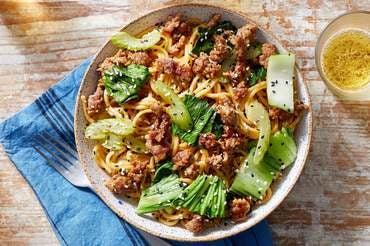 Pork Lo Mein with Bok Choy & Celery