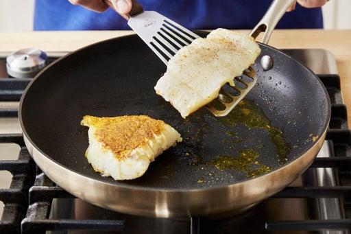 Coat & cook the cod:
