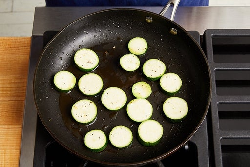 Cook & finish the zucchini: