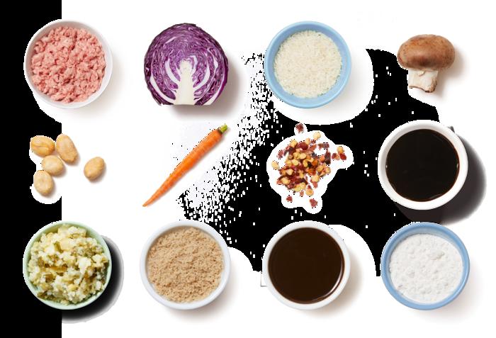 Tamarind Pork & Vegetable Stir-Fry with Jasmine Rice & Peanuts