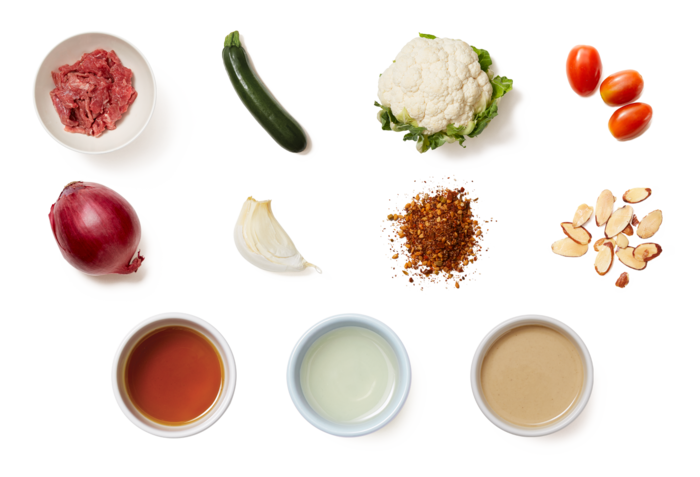 Middle Eastern Cauliflower Bowls with Za'atar Beef & Zucchini