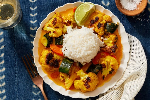 Coconut Vegetable Curry with Jasmine Rice