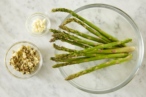 Prepare the ingredients & make the caper-garlic paste: