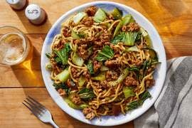 Pork & Vegetable Lo Mein with Furikake