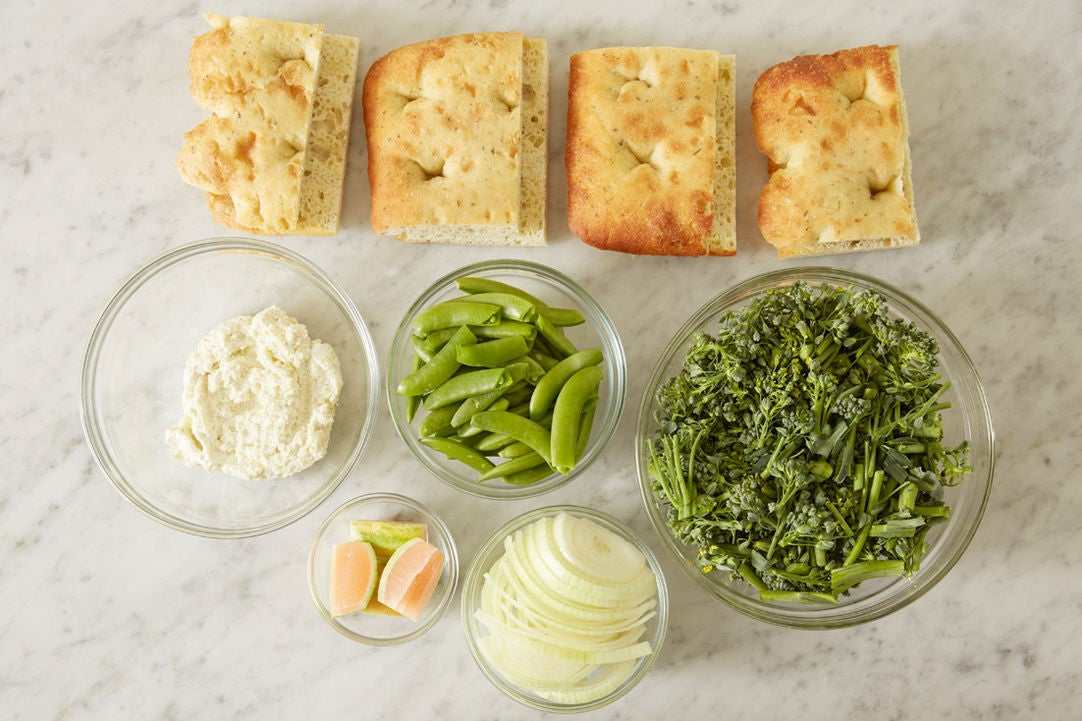 Prepare the ingredients & season the ricotta: