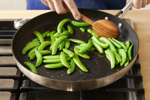 Cook the snap peas:
