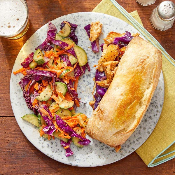 Asian Chicken Sandwiches with Creamy Ponzu-Dressed Slaw