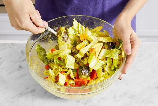 Finish the salad & serve your dish: