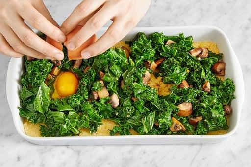 Bake the polenta & eggs