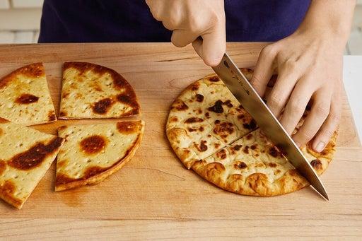 Toast the pitas: