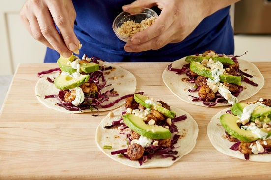 Assemble the tacos & plate your dish: