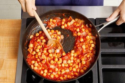 Start the chickpeas & vegetables: