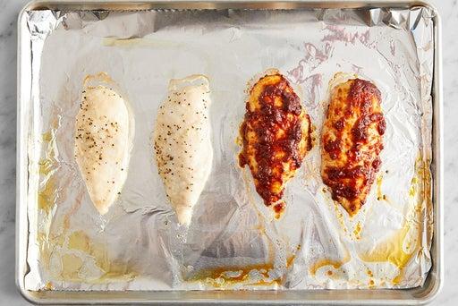 Prepare & bake the chicken: