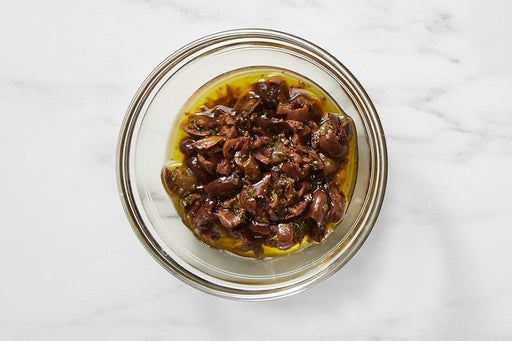 Make the Olive Tapenade:
