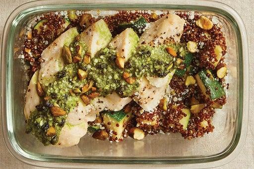 Finish & Serve the Currant Pesto Chicken:
