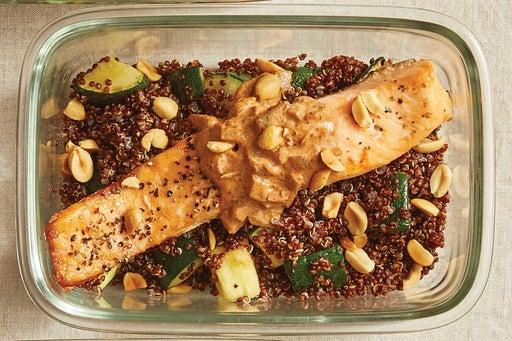 Finish & Serve the Roasted Salmon & Quinoa: