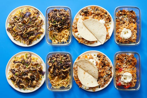 Multi-Cooker with Chicken Tacos & Cumin-Sichuan Pork