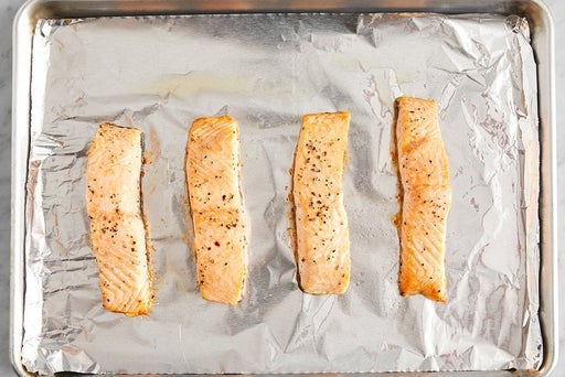 Roast the salmon: