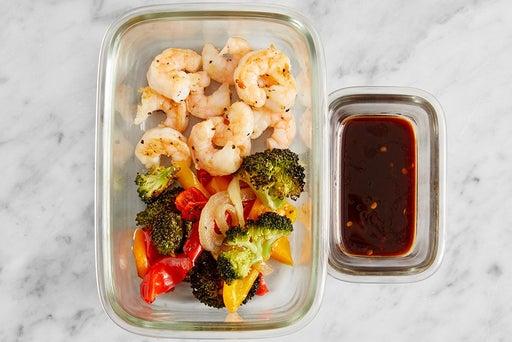 Assemble & Store the Asian-Style Shrimp: