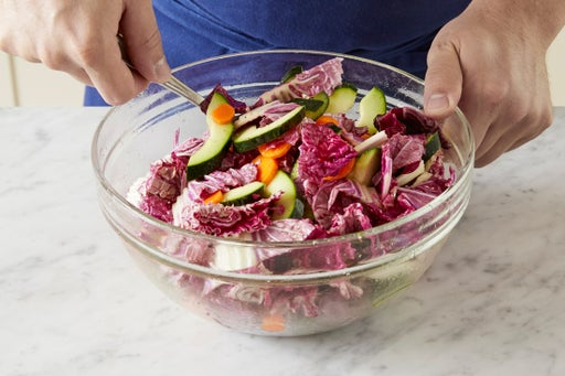 Marinate the vegetables: