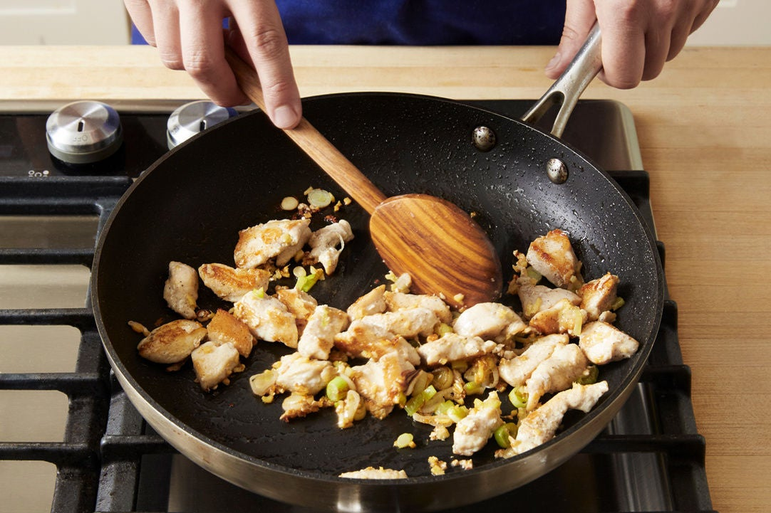 Brown the chicken: