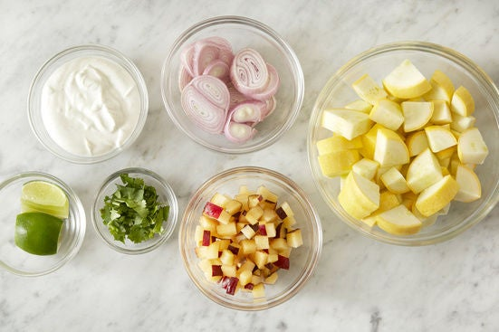 Prepare the ingredients & marinate the plum: