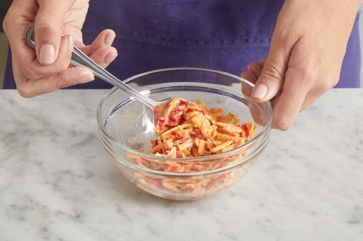 Make the pimento cheese: