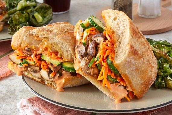 recipe vietnamese style vegetable sandwiches with sriracha