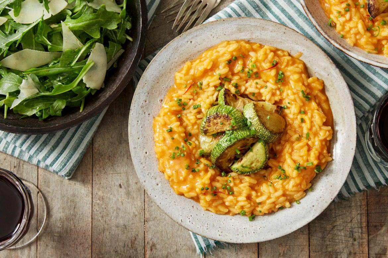 Blue apron cookbook - Tomato Saffron Risotto