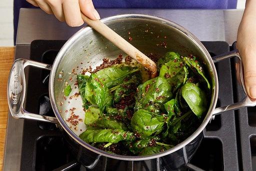 Cook & finish the quinoa: