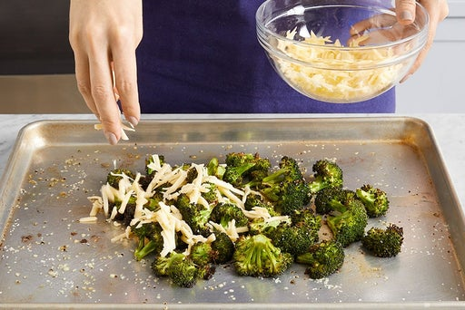 Make the cheesy broccoli: