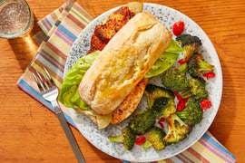 Cajun-Spiced Tilapia Sandwiches with Roasted Broccoli & Rémoulade Sauce