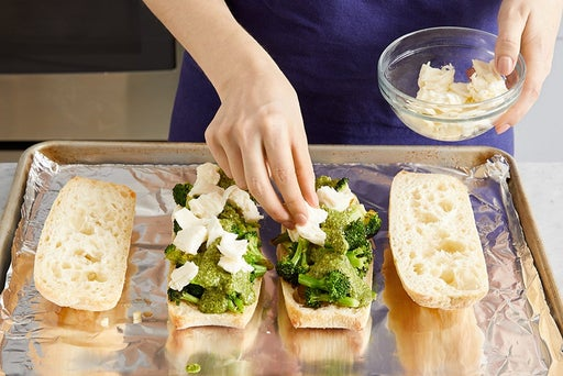 Assemble & toast the sandwiches: