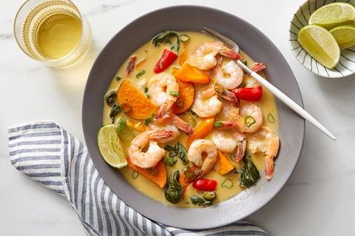 Shrimp & Sweet Potato Curry with Lemongrass & Coconut Milk